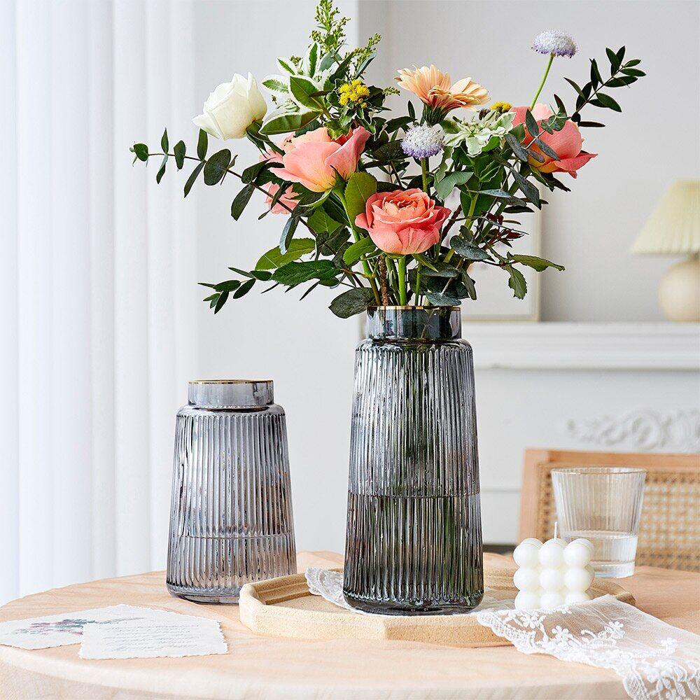 AliExpress Vase en verre moderne, décoration de maison, salon, Vases de fleurs séchées, Pot de fleurs pour