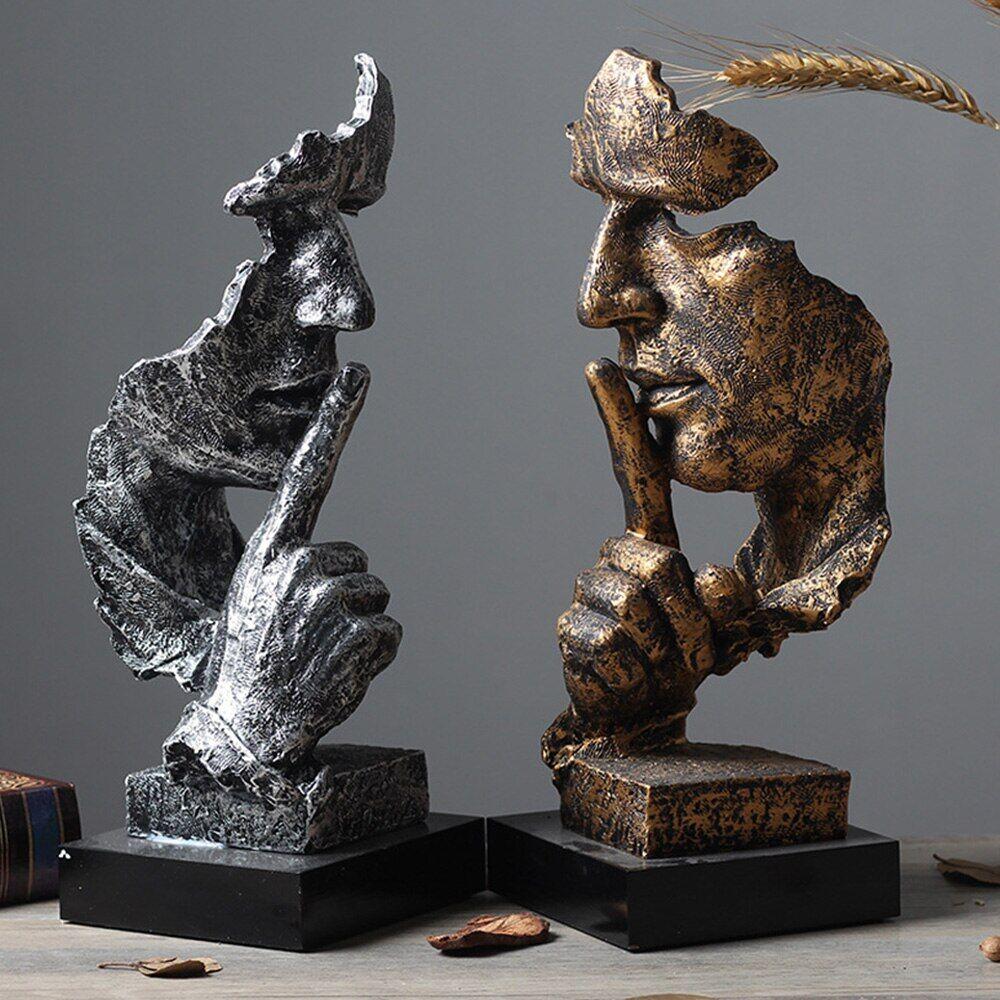 AliExpress MGT – Statues de personnages créatifs, Figurine rétro abstraite, ne pas écouter/parler/regarder,