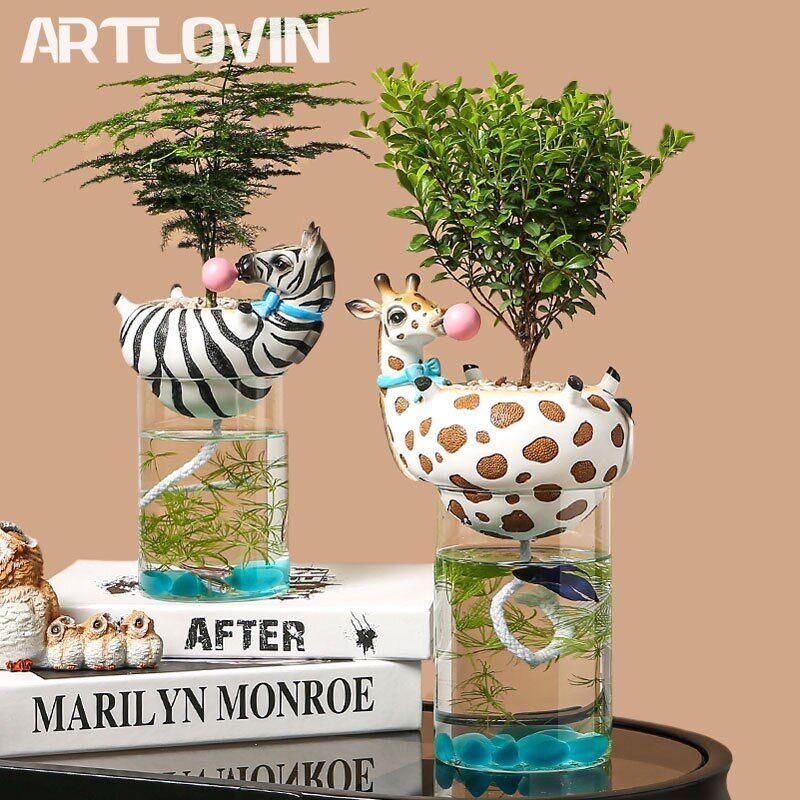 AliExpress Vase décoratif pour Cactus et plantes succulentes, Pot de fleurs en verre, jardinière d'eau en