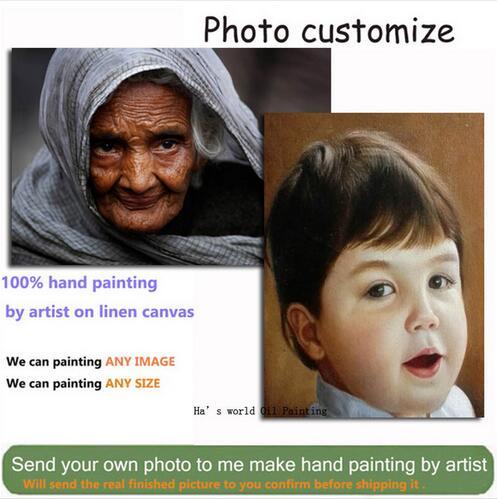 AliExpress Peintures à l'huile personnalisées à partir de photographies, vos Photos, famille, amis, bébé,