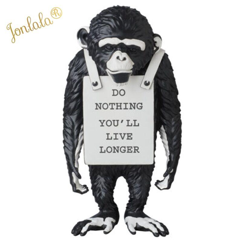 AliExpress Banksy – Statue de singe noir et blanc, Art moderne, résine créative, artisanat, ne rien faire, vous