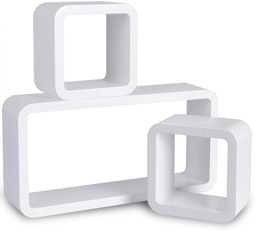 AliExpress 3 étagères murales flottantes Cube blanc décoratif, rangement de jouets CD DVD étagère d'affichage