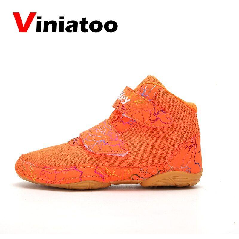 AliExpress Chaussures de boxe professionnelles pour enfants, tailles 30 à 36, antidérapantes, de qualité,