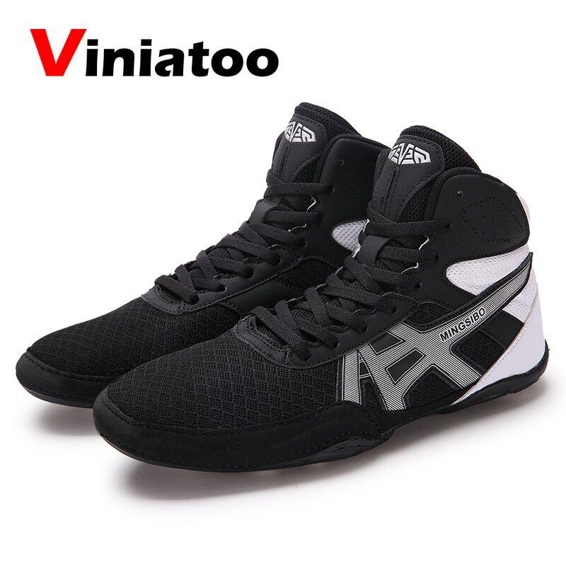 AliExpress Chaussures de boxe grande taille 36 – 46 pour hommes, baskets rouges et bleues de qualité, de