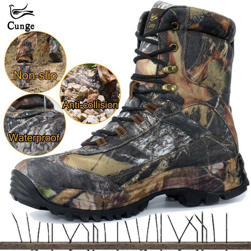 AliExpress Kunge – chaussures de Sport tactique d'extérieur pour hommes, bottes de chasse imperméables, de