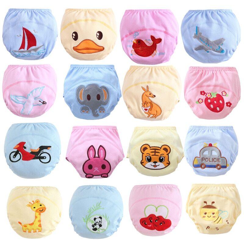 AliExpress Couche-culotte réutilisable en coton, 8 pièces/lot, pantalons d'entraînement pour bébé,