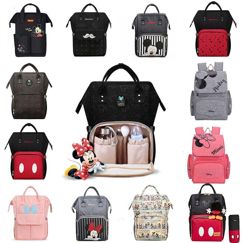 AliExpress Disney – sac à dos USB pour couches et soins de bébé, accessoire de maternité, Mickey Mouse, pour