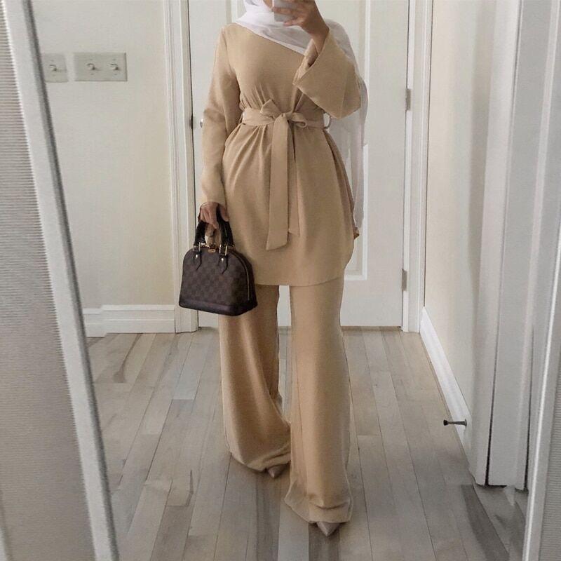 AliExpress Ramadan Eid moubarak dubaï Abaya turquie musulman ensembles Hijab Robe Caftan Caftan Islam Robe turc