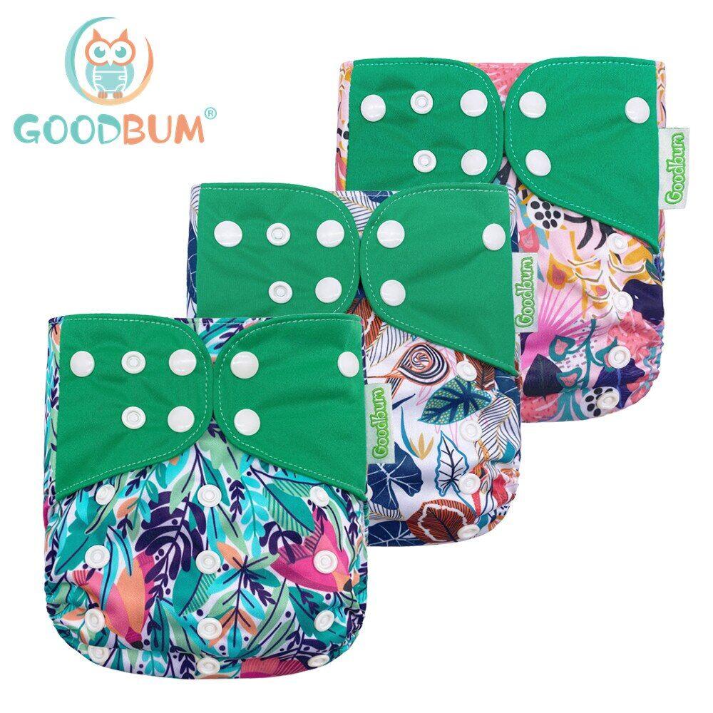 AliExpress Goodbum – couche-culotte ajustable en maille pour bébé de 3 à 15KG, pièces/ensemble, lavable,