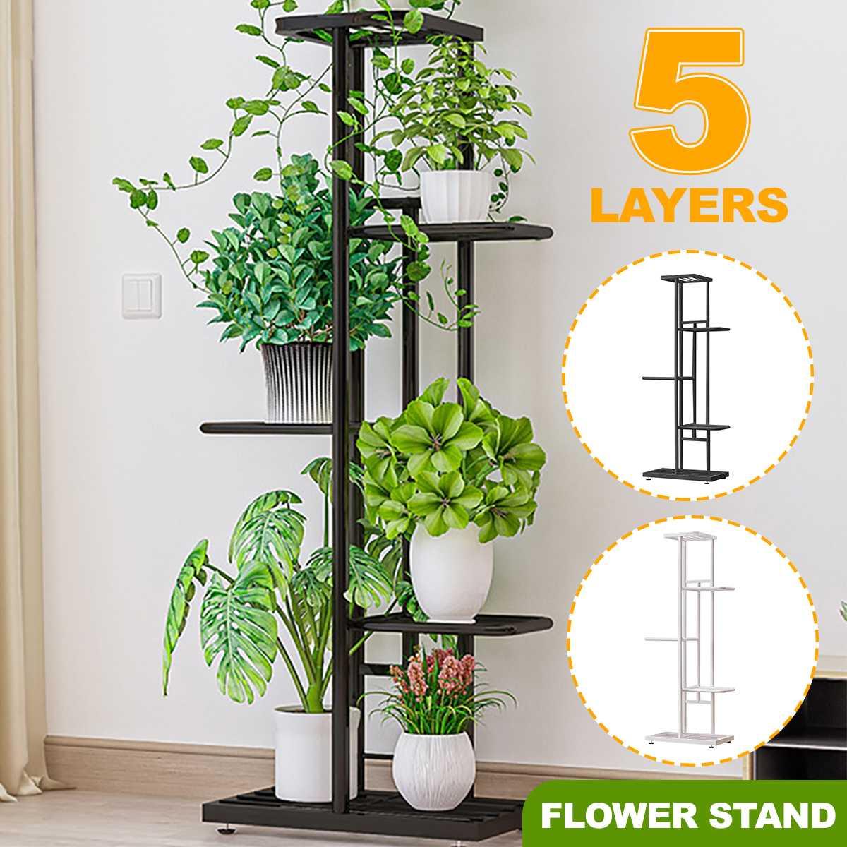 AliExpress Support en fer pour Pots de fleurs, 5 couches, plateau pour plantes, jardinière, présentoir, support