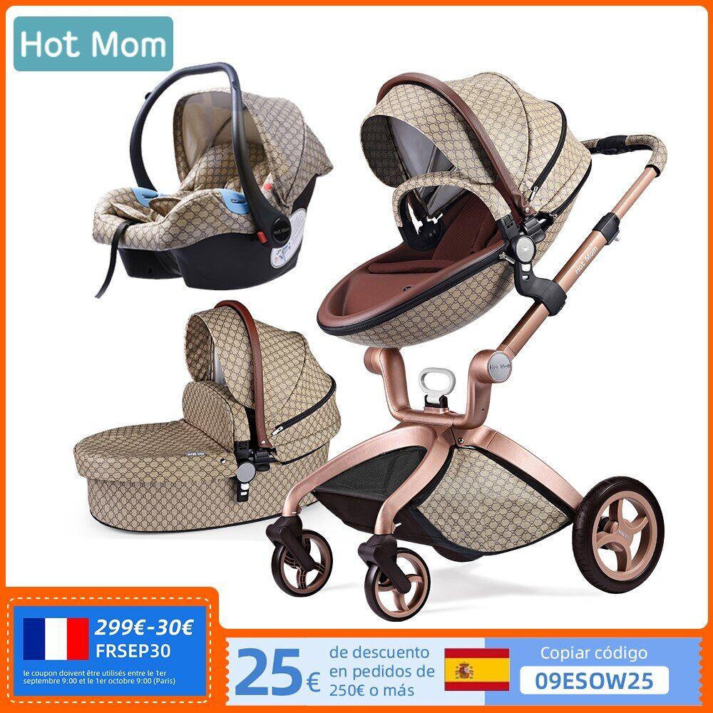 AliExpress Poussette 3 en 1 pour bébé, système de voyage pour maman, poussette haute avec couffin, chariot