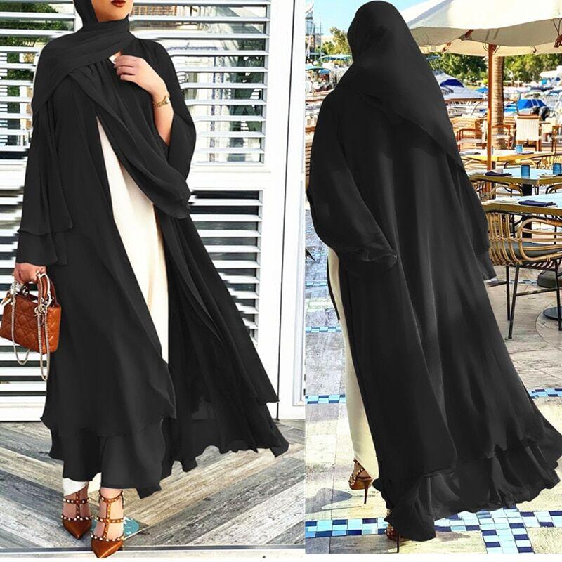AliExpress Robe Hijab pour femmes musulmanes, Kaftan, dubaï, Kimomo, Abaya pour femmes, Cardigan arabe turc,