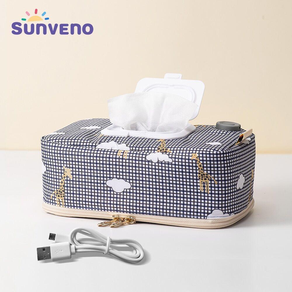 Sunveno – distributeur de lingettes chauffantes pour bébé, boîte chauffante pour serviettes humides,