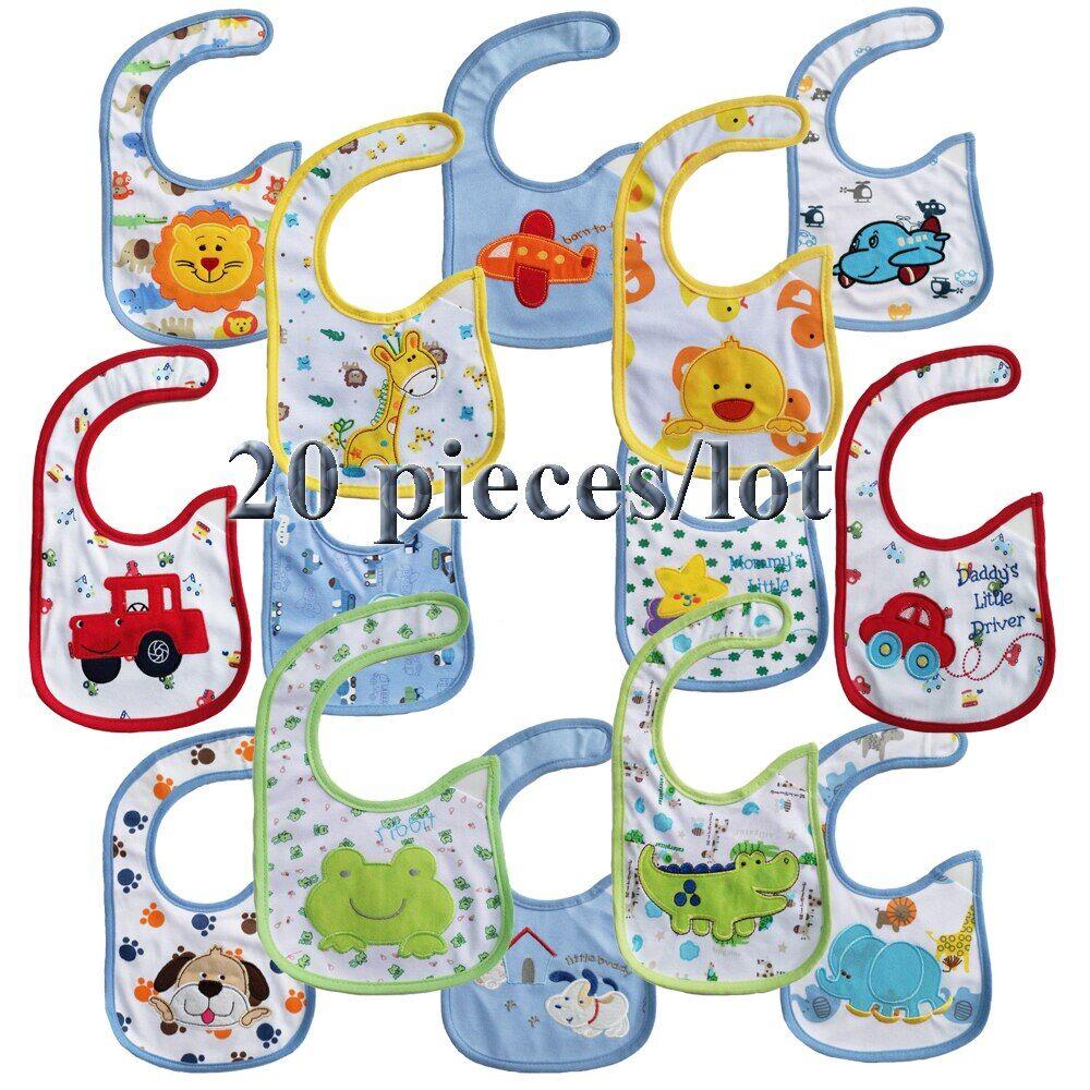 AliExpress Bavoirs Bandana 100% coton pour bébés, 20 pièces, serviette de haute qualité, dessin animé, pour