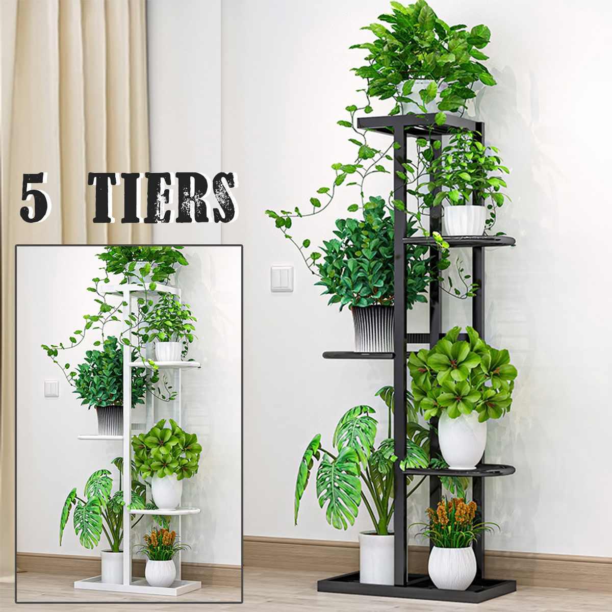 AliExpress 5 niveaux fer artisanat plante étagères support de Pot de fleur support de jardin présentoir plantes