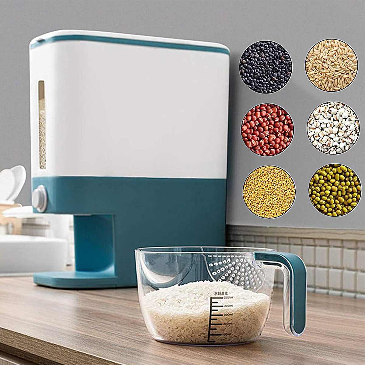 AliExpress Boîte de rangement de riz de cuisine boîtes de distributeur de céréales automatiques étanche à