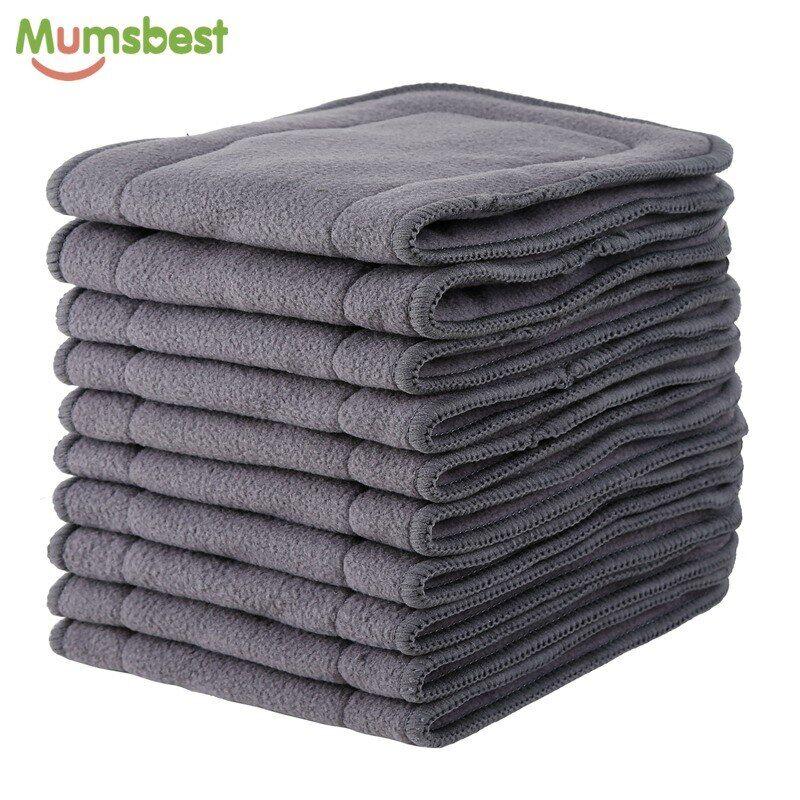 AliExpress Mumsbest – Inserts en charbon de bambou, doublure de couche-culotte pour bébé, lavable et