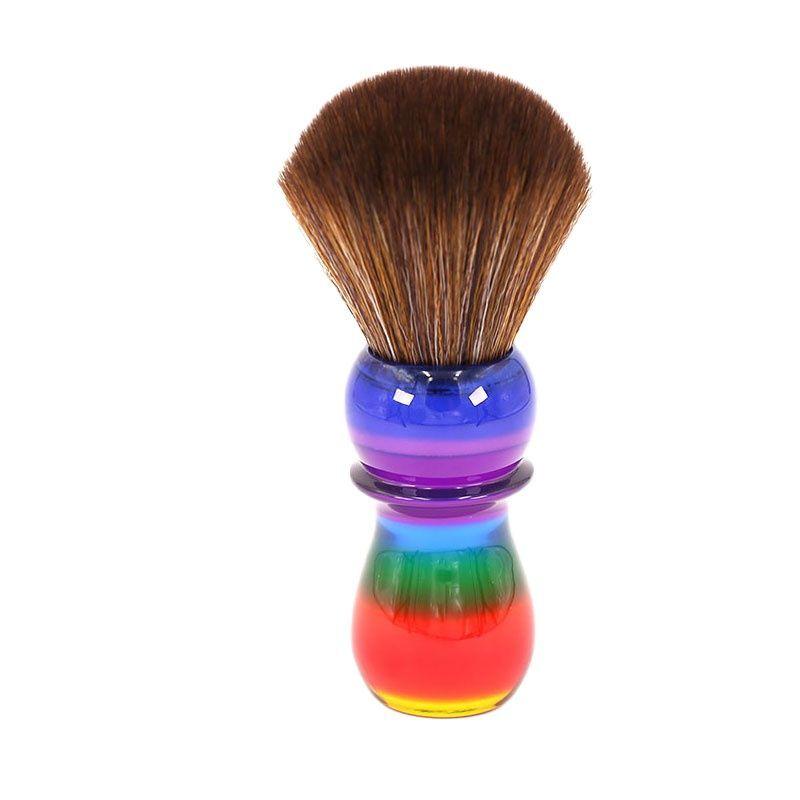 AliExpress Yaqi – brosses à cheveux synthétiques brun arc-en-ciel, 26mm, pour rasage
