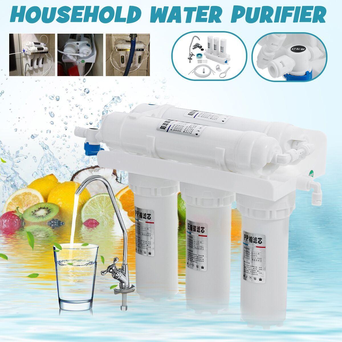 AliExpress Filtre à eau potable 3 + 2 5, système d'ultrafiltration, purificateur d'eau de cuisine domestique,