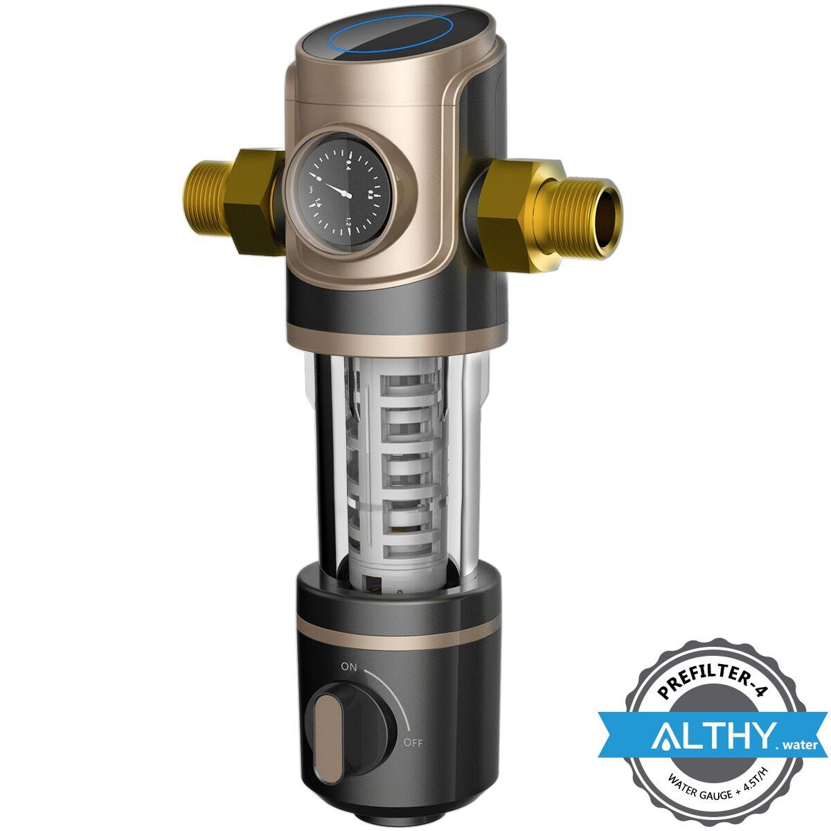 AliExpress ALTHY – préfiltre de filtre à eau pour toute la maison, grand débit 4.5 T/h + manomètre, Siphon de