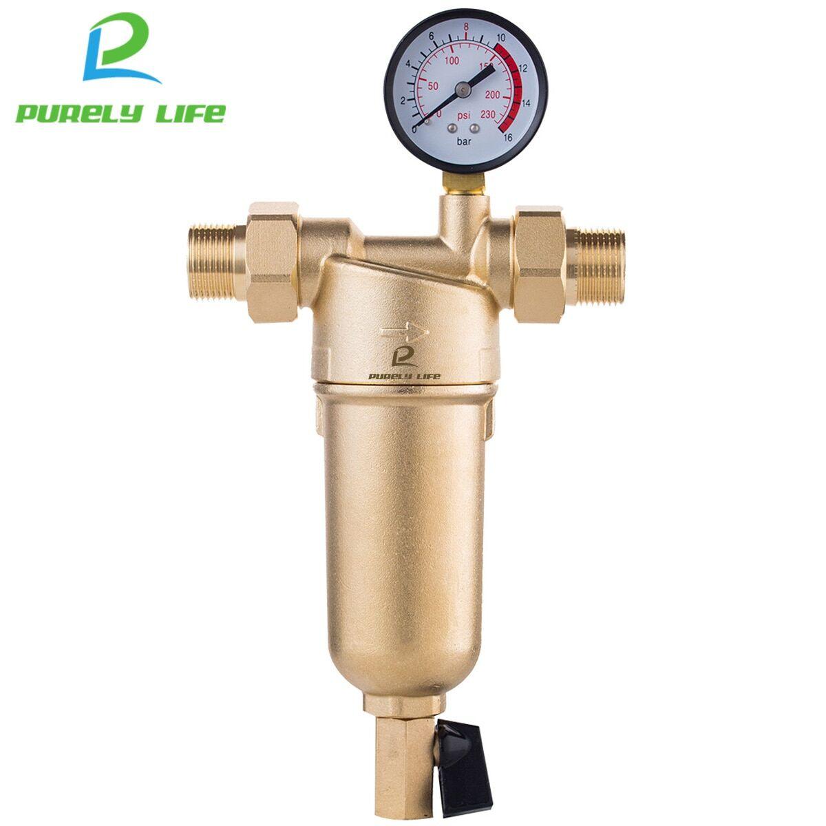 AliExpress Siphon backwas pré-filtre à eau chaude, système de purification en laiton entier, maille en acier