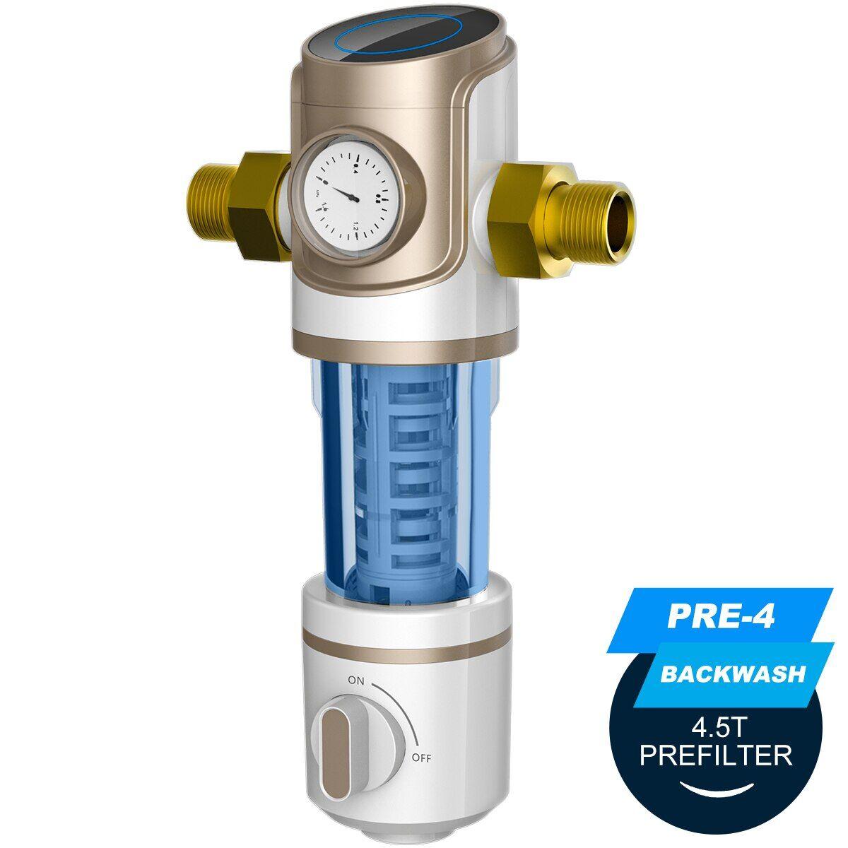 AliExpress ALTHY PRE-4 Préfiltre Centrale Toute la Maison Pré filtre Filtre À Eau Purificateur Siphon rinçage