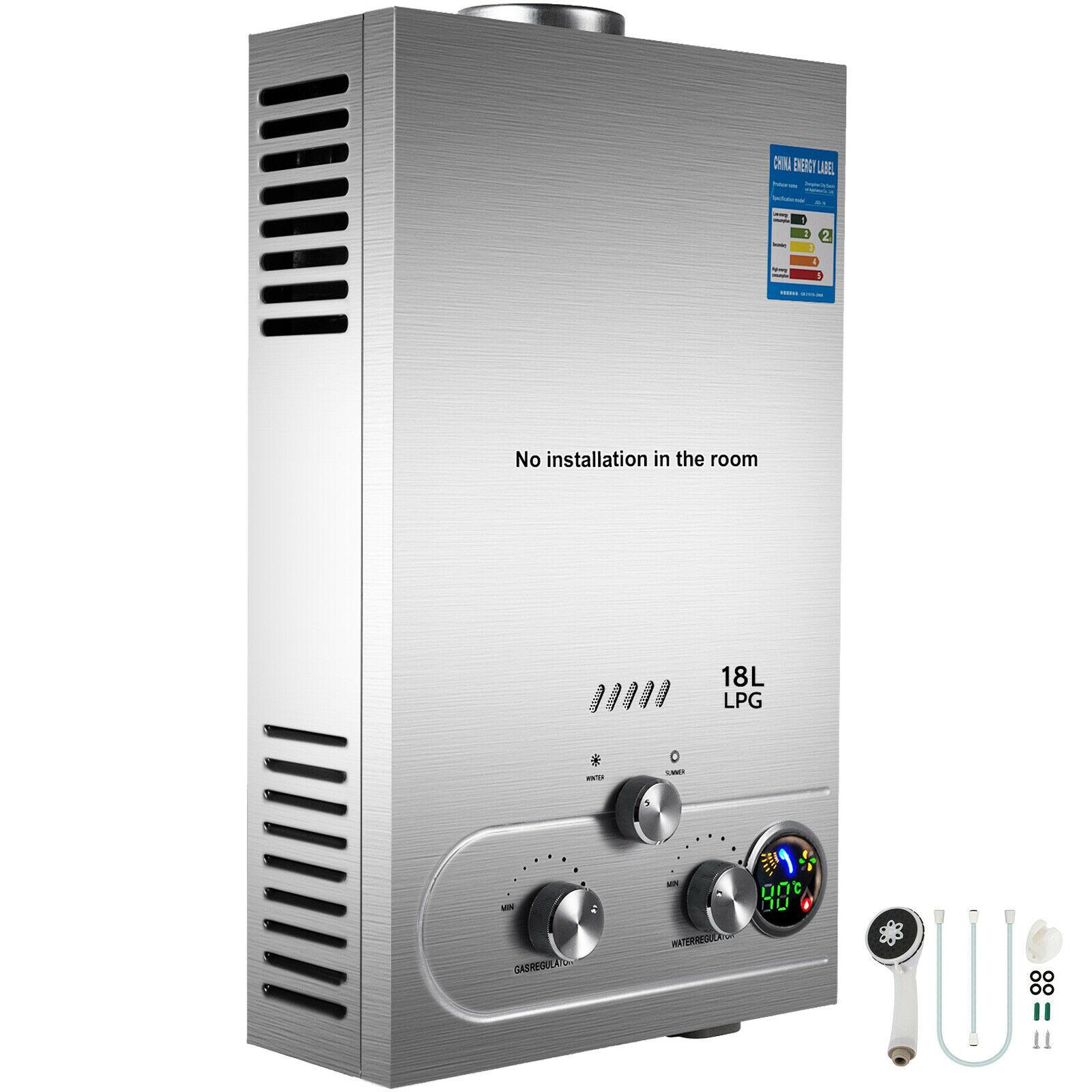 AliExpress Chauffe-eau instantané sans réservoir au gaz Propane, 6L/8L/10L/12L/16L/18L, 4,8 gpm, avec Kit de