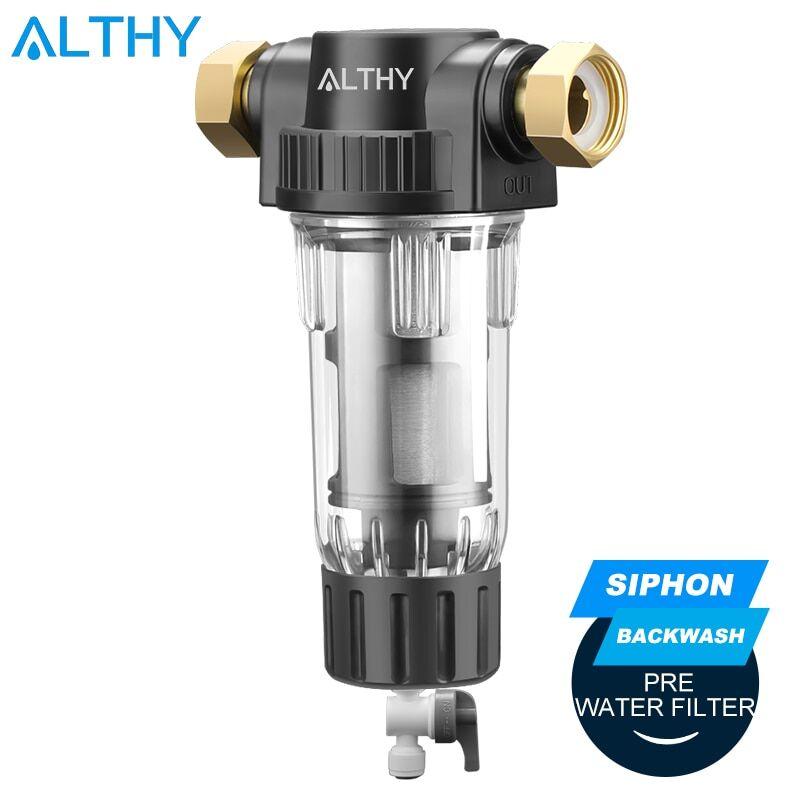 AliExpress ALTHY – pré-filtre pour toute la maison, système de purification Central, Siphon, lavage à