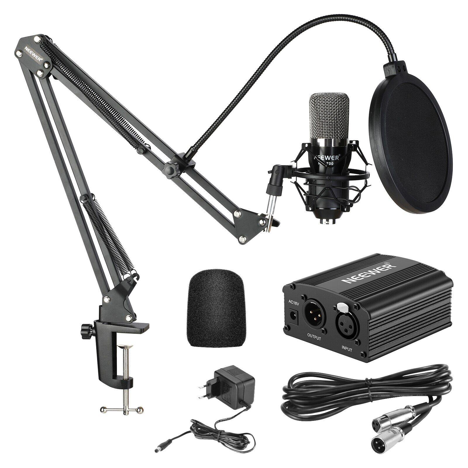 AliExpress Neewer – support de Microphone à condensateur professionnel, bras à ciseaux, câble XLR, pince de