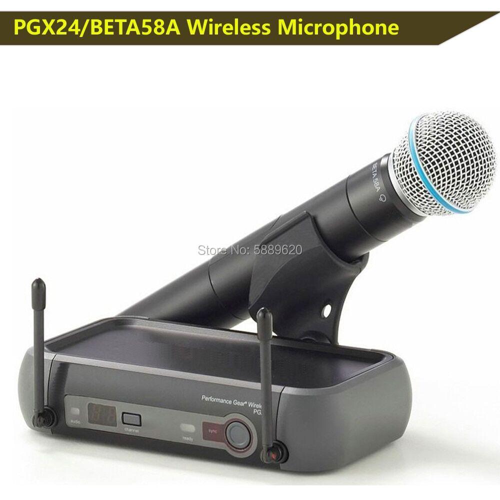 AliExpress Système de MICROPHONE sans fil professionnel PGX24/BETA58A, équipement performant, livraison