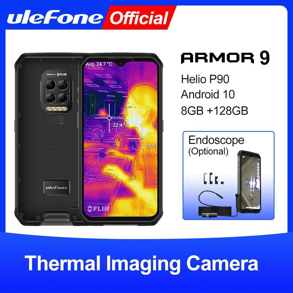 AliExpress Ulefone – téléphone portable robuste Armor 9, caméra d'imagerie thermique FLIRSmartphone Android