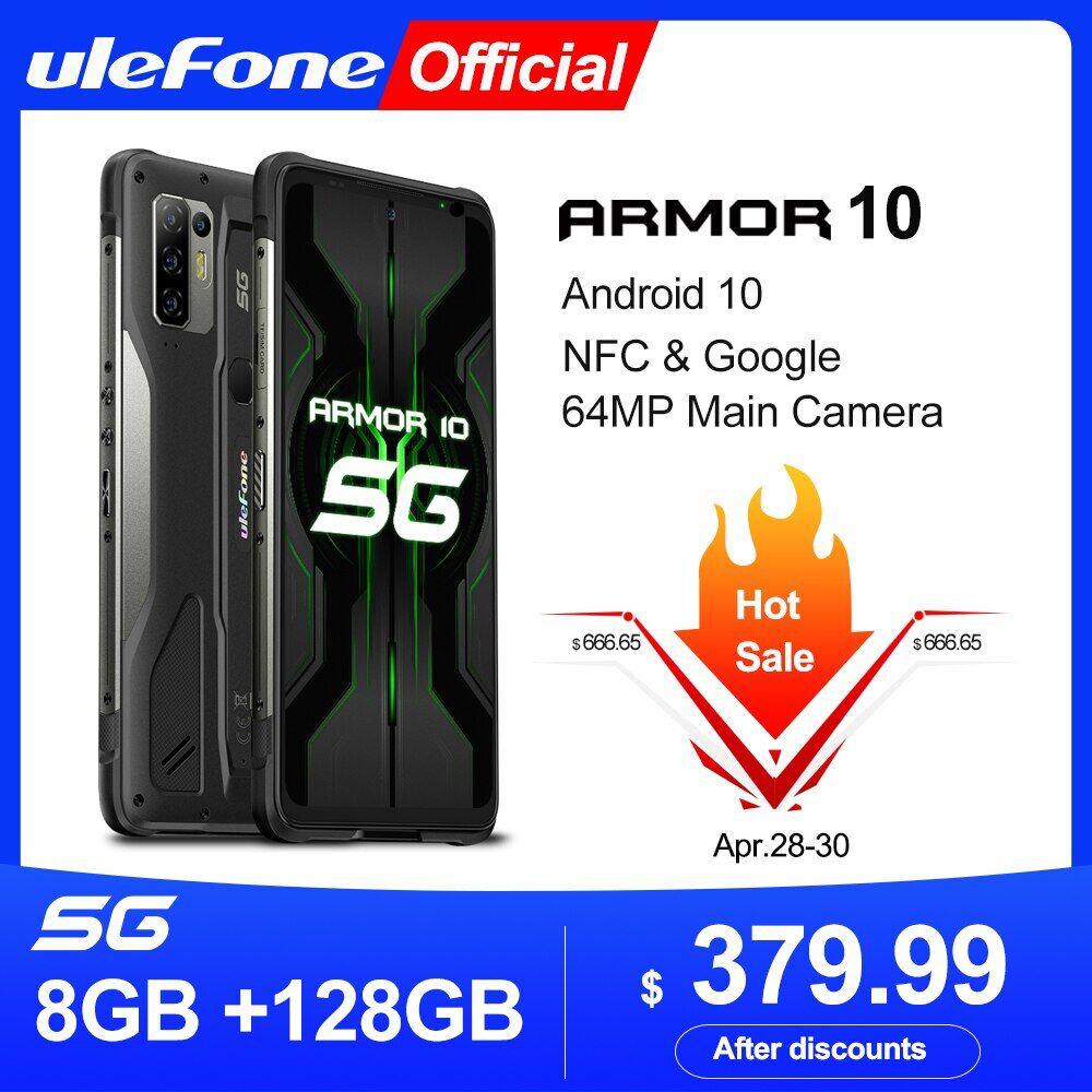 AliExpress Ulefone – Smartphone Armor 10 5G robuste, téléphone portable, Android 10, 8 go + 128 go, étanchéité