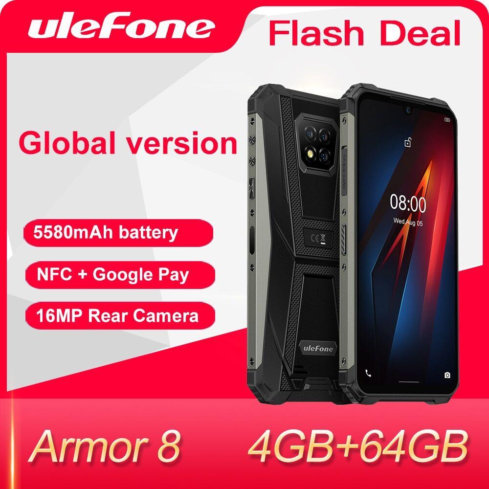 AliExpress Ulefone – Smartphone Armor 8, téléphone robuste, Android 10, Helio P60, 4 go + 64 go, octa-core, 6.1
