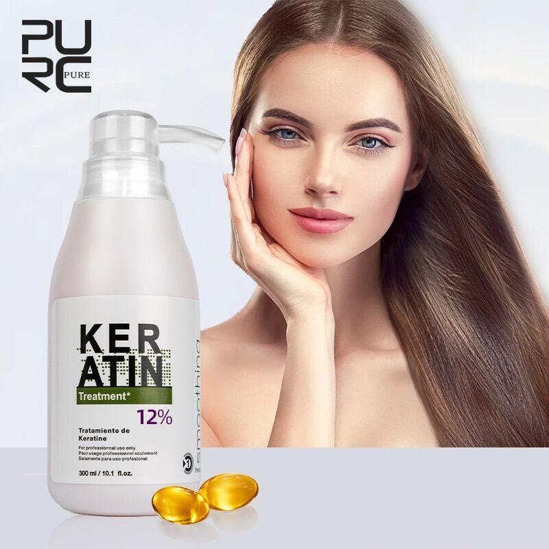 AliExpress PURC – kératine brésilienne 12% formol, 300ml, traitement des cheveux bouclés, lissage, produit de