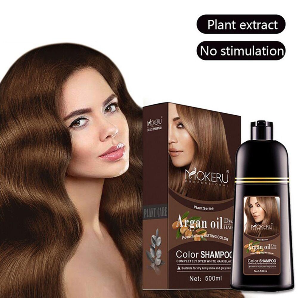 AliExpress Shampoing à base d'huile d'argan naturelle, couvrant les cheveux, coloration permanente, instantané,