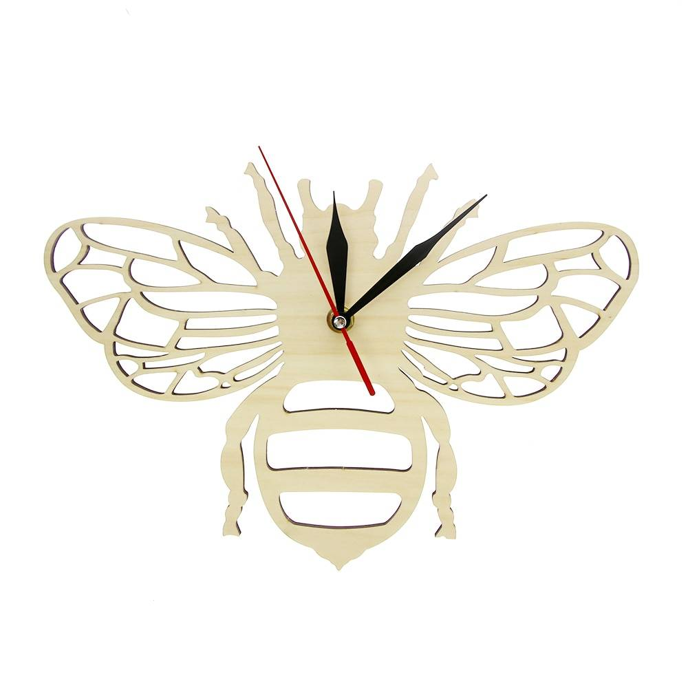 AliExpress Horloge murale en bois d'abeille de miel parfaite pour les amoureux d'abeille de miel décor mural