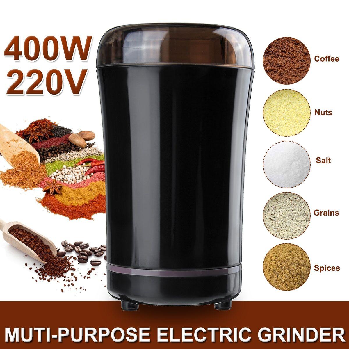 AliExpress Moulin à café électrique 400W, cuisine, Mini moulin à sel et à poivre, épices, noix, grains de café,