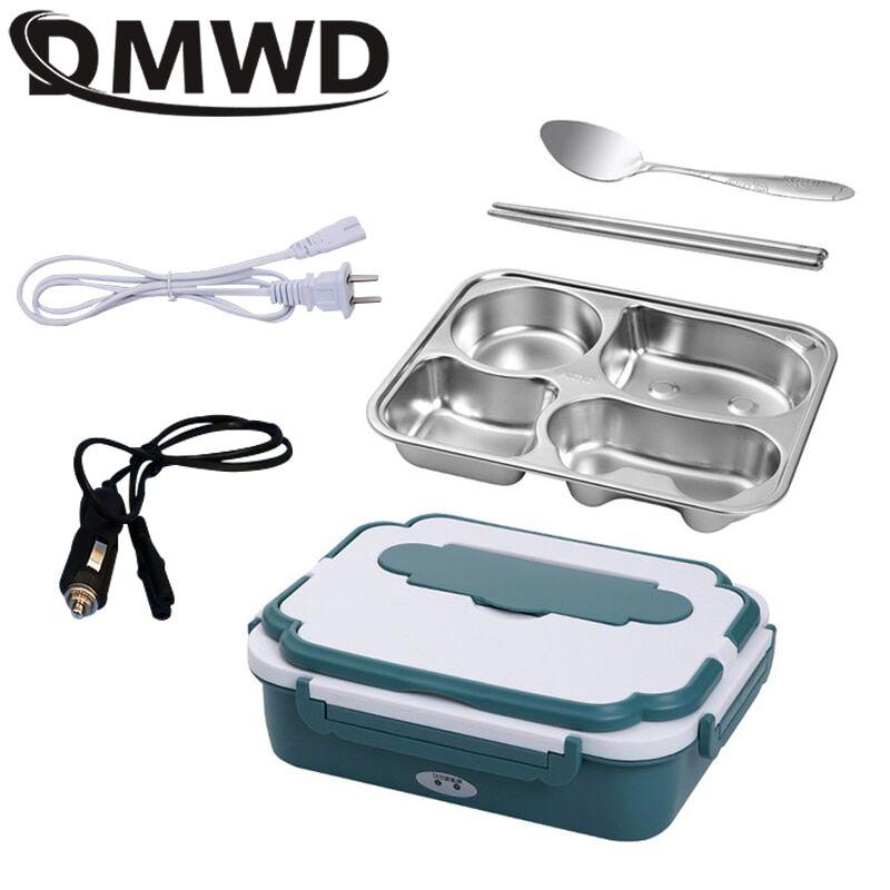 AliExpress Boîte à déjeuner à chauffage électrique, Bento en acier inoxydable, 24V/12V/110V/220V/V, pour la