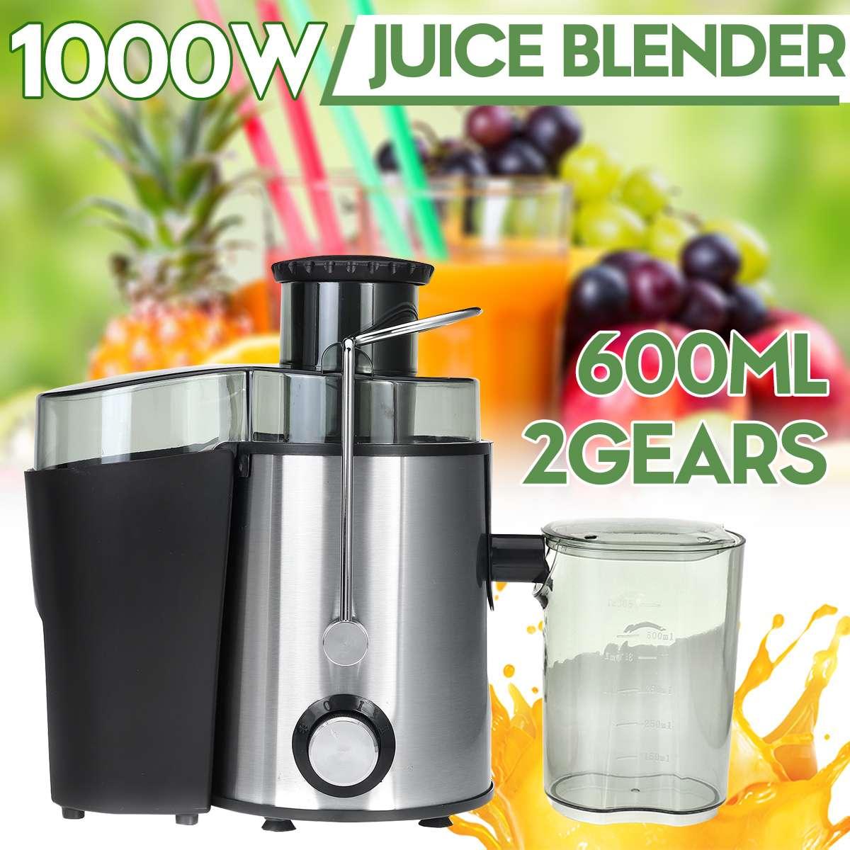 AliExpress Extracteur de jus électrique à 2 vitesses, 1000W, en acier inoxydable, Machine pour boire des fruits