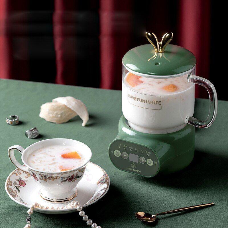 AliExpress Tasse à ragoût électrique 600ML, Mini céramique/verre, cuiseur de soupe santé, théière, thé,