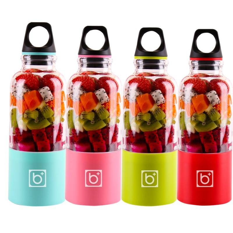AliExpress 500 ml 4 lame Portable USB smoothie blender usb Rechargeable extracteur de jus extracteur jus tasse