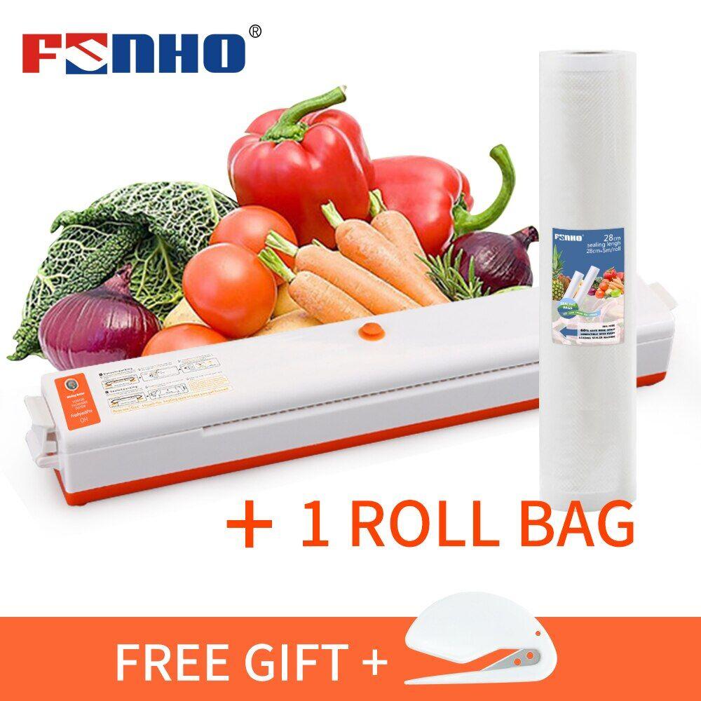 AliExpress FUNHO – Machine d'emballage sous-vide pour aliments + rouleau en plastique, sac de conservation des