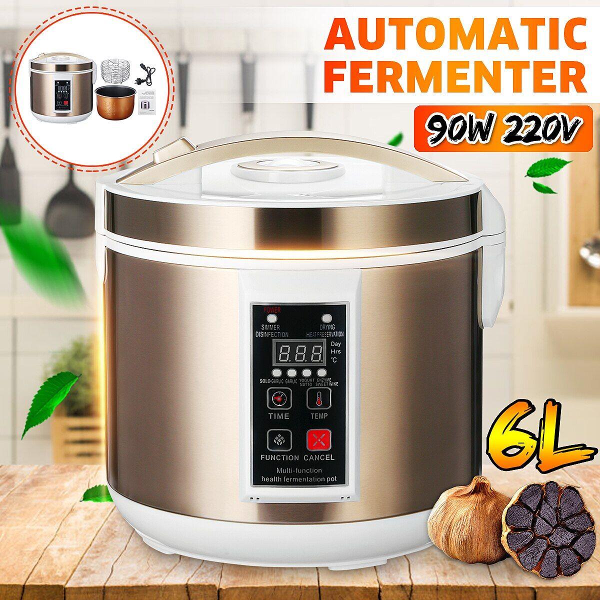 AliExpress Machine de fermentation automatique de l'ail noir, 220V 6L, 90W, Pot de zymolyse, Natto, yaourt, vin