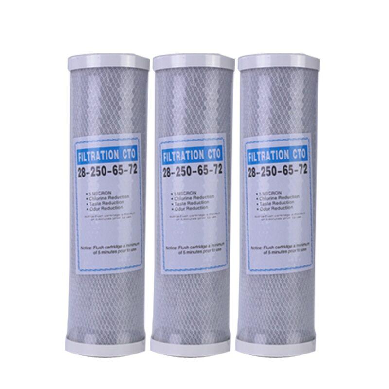 AliExpress Filtre à eau à charbon actif 10 pouces, 3 pièces, cartouche de remplacement, purificateur, bloc CTO,