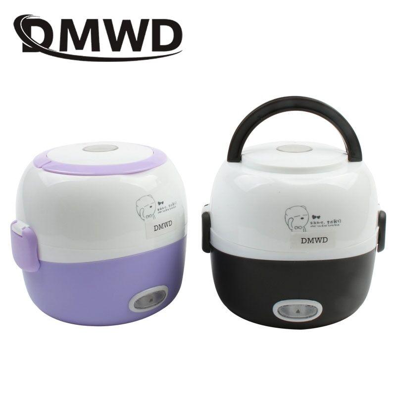 AliExpress DMWD – MINI cuiseur à riz, boîte à déjeuner électrique à chauffage thermique à 2 couches, cuiseur à
