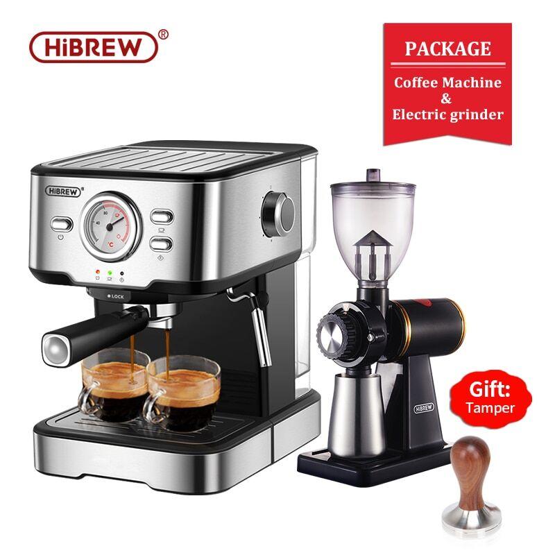 AliExpress HiBREW – Machine à café Expresso en inox, 20 bars, Semi-automatique, Expresso Cappuccino, baguette à