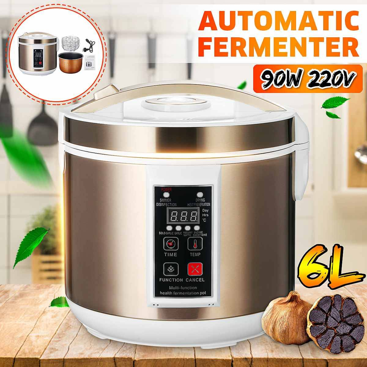 AliExpress Fermenteur automatique à l'ail noir, Machine à yaourt, contrôle bricolage DIY, 6L 220V