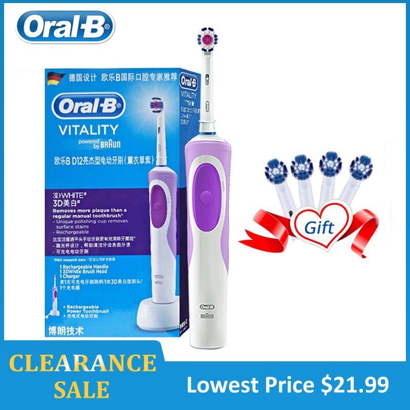 AliExpress Oral B brosse à dents électrique 2D nettoyage de précision blanchir les dents charge Inductive corps