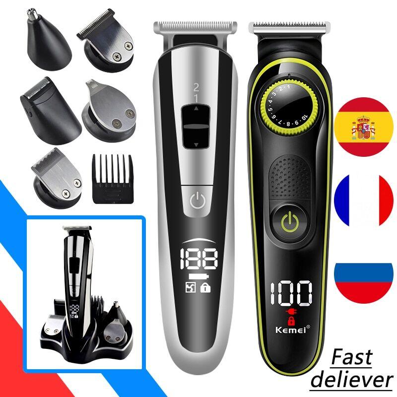 AliExpress Kit de toilettage et de rasage 11 en 1 pour homme,tondeuse à cheveux et à barbe électrique