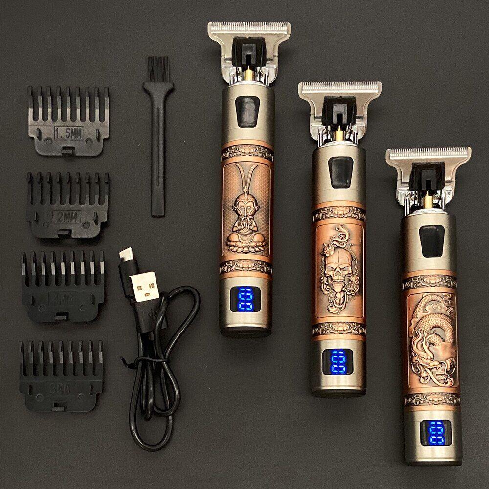 AliExpress Tondeuse à cheveux électrique professionnelle 2021 USB T9, rasoir pour barbier et barbe à 0mm,